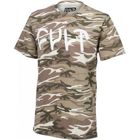 T-Shirts Cult Logo Tee Desert Camo Shirt L